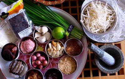 タイ料理教室 パッタイ 食材